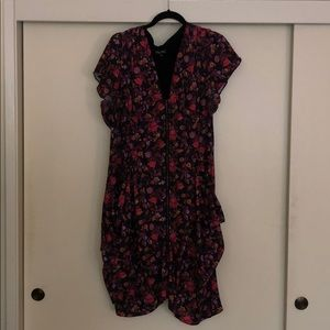 Floral zip tunic